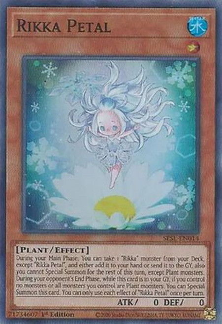 YuGiOh Secret Slayers Super Rare Rikka Petal SESL-EN014