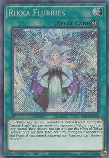 YuGiOh Secret Slayers Secret Rare Rikka Flurries SESL-EN024