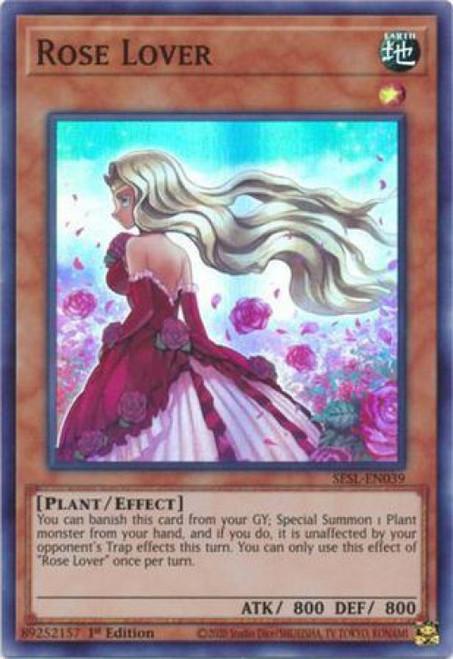 YuGiOh Secret Slayers Super Rare Rose Lover SESL-EN039