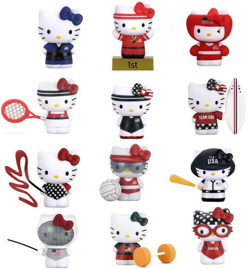 Sanrio Hello Kitty Vinyl Mini Figure X Team USA 3-Inch Mystery Box [24 Packs, Window Boxed]