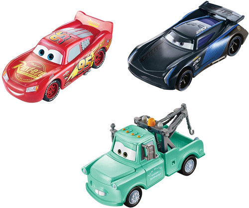 Disney / Pixar Cars Color Changers Lightning McQueen, Mater & Jackson Storm Diecast Car 3-Pack