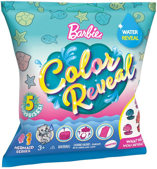 Barbie Color Reveal Mermaid Series Pets Surprise Doll [Shell Shaped Case]