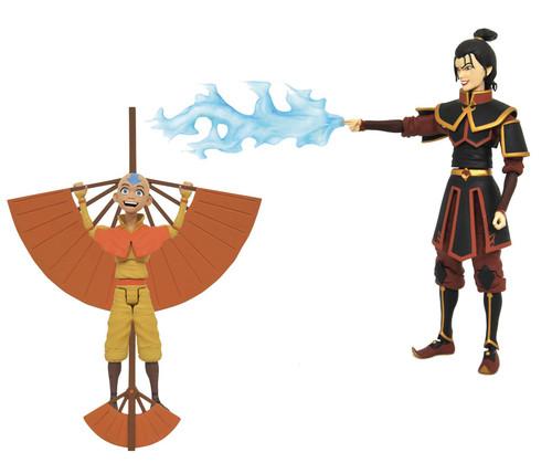 Avatar the Last Airbender Series 2 Airbender Aang & Firebender Azula Set of Both Action Figures