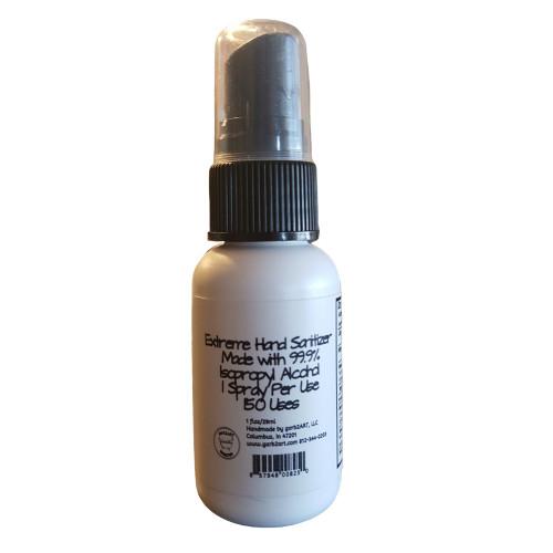 Garb2art Extreme Hand Sanitizer 1 Oz. Spray Bottle [99.9% Isopropyl Alcohol]