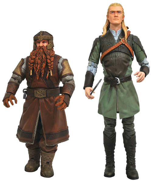 Lord of the Rings Build Sauron Series 1 Legolas & Gimli Set of Both Action Figures