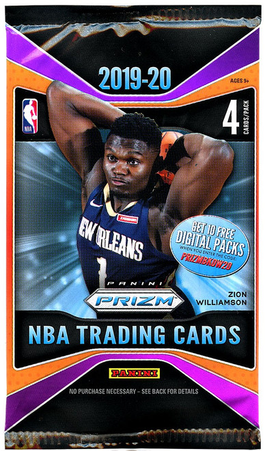 NBA Panini 2019-20 Prizm Basketball Trading Card RETAIL Pack [4 Cards]
