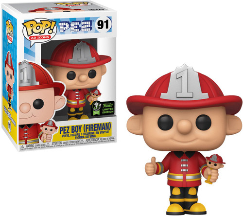 Funko POP! Ad Icons PEZ Boy (Fireman) Exclusive Vinyl Figure #91