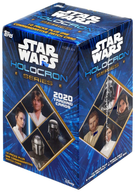 Star Wars Topps 2020 Holocron Series Trading Card BLASTER Box [10 Packs + 1 Patch Card!]