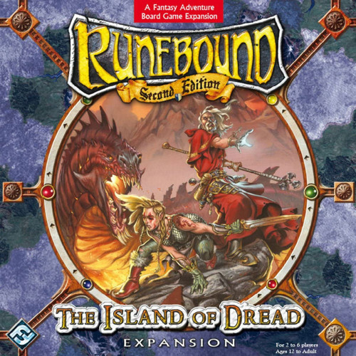 Runebound Second Edition The Island of Dread Board Game Expansion