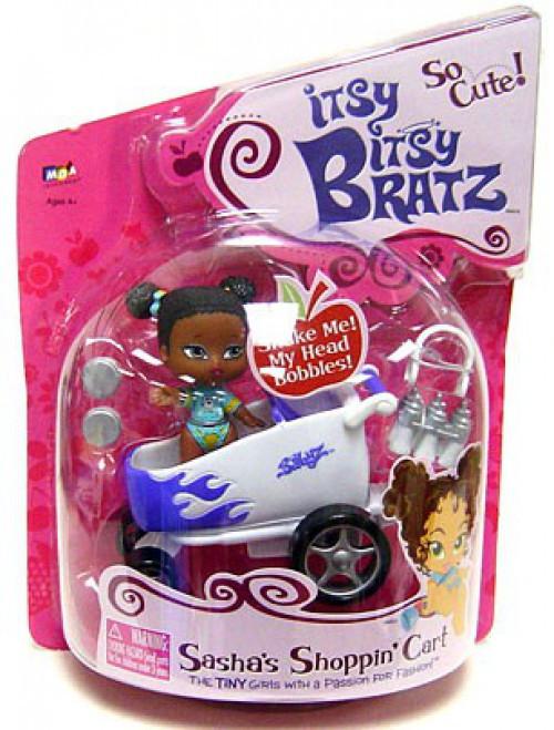 Itsy Bitsy Bratz Sasha's Shoppin' Cart Mini Doll