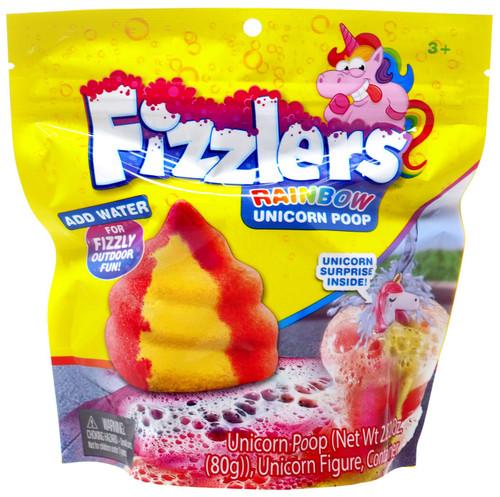 Fizzlers Rainbow Unicorn Poop Red & Yellow Foam Bomb [Unicorn Figure Surprise Inside!]