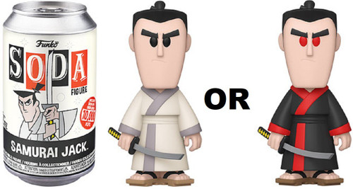 Funko Vinyl Soda Samurai Jack Limited Edition of 10,000! Vinyl Figure [1 RANDOM Figure Look For The Chase!]