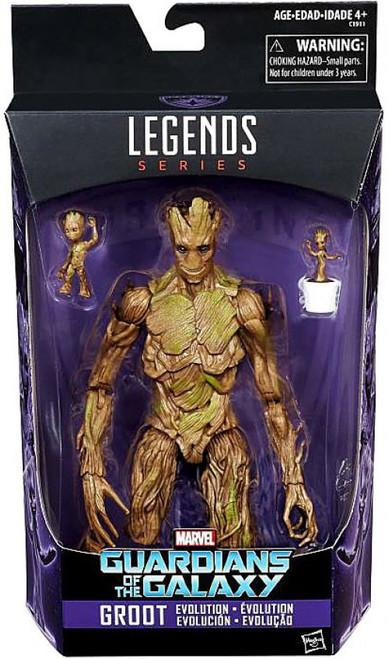 Guardians of the Galaxy Marvel Legends Groot Evolution Action Figure [Reprint Version] (Pre-Order ships June)