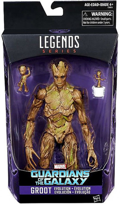 Guardians of the Galaxy Marvel Legends Groot Evolution Action Figure [Reprint Version] (Pre-Order ships January)