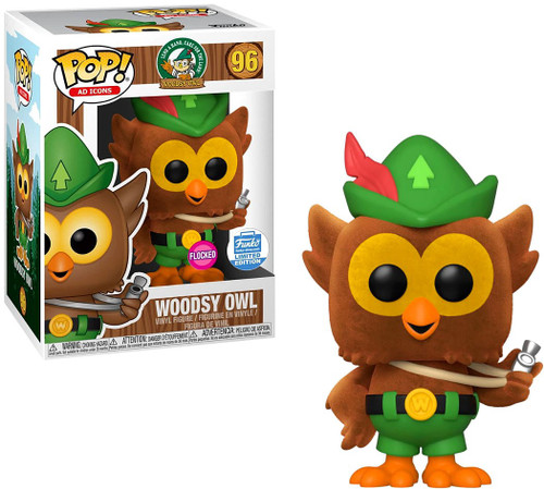 Funko POP! Ad Icons Woodsy Owl Exclusive Vinyl Figure #96 [Flocked]