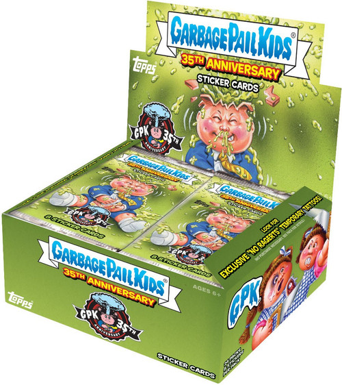Garbage Pail Kids Topps 2020 Series 2 GPK 35th Anniversary Trading Card Sticker Box [24 packs]