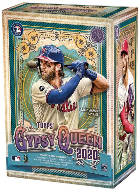 MLB Topps 2020 Gypsy Queen Baseball Trading Card BLASTER Box [7 Packs + 1 Bonus Pack of Parallel Cards]