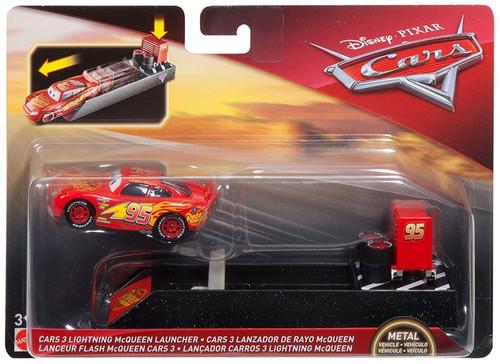 Disney / Pixar Cars Cars 3 Lightning McQueen Diecast Car & Launcher [Damaged Package]