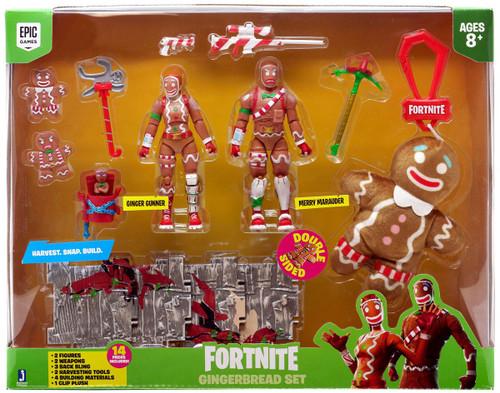 Fortnite Gingerbread Set Exclusive Action Figure 2-Pack [Merry Marauder & Ginger Gunner, Damaged Package]