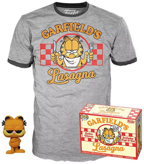 Funko POP! Comics Garfield Exclusive Vinyl Figure & T-Shirt [Large]
