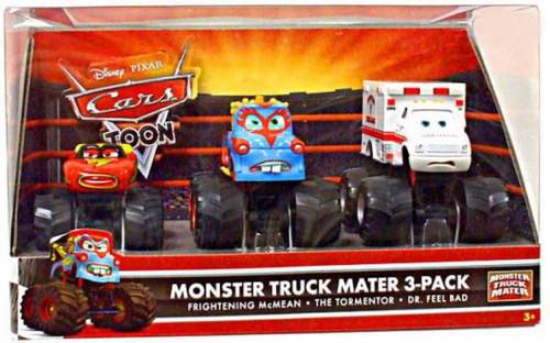 Disney / Pixar Cars Cars Toon Multi-Packs Monster Truck Mater Exclusive Diecast Car Set [Set #1, Damaged Package]