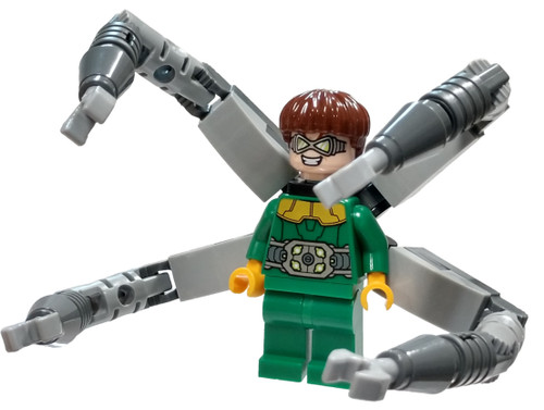 LEGO Marvel Super Heroes Spider-Man Dr. Octopus (Otto Octavius) / Doc Ock Minifigure [Green Outfit with Arms Loose]