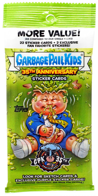 Garbage Pail Kids Topps 2020 Series 2 GPK 35th Anniversary Trading Card VALUE Pack [22 Sticker Cards + 2 Exclusive Fan Favorites!]
