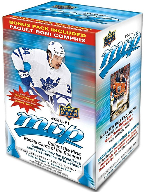 NHL 2020-21 MVP Hockey Trading Card BLASTER Box [20 Packs + 1 Bonus Pack]