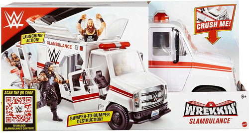 WWE Wrestling Wrekkin' Slambulance Vehicle Playset
