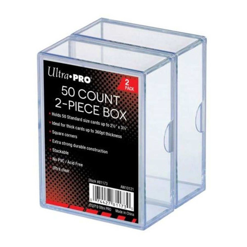 Ultra Pro Card Supplies Clear Deck Box [50 Count, 2 Piece 2 Pack]