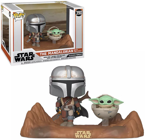 Funko Star Wars The Mandalorian POP! Movie Moments Mandalorian & The Child Vinyl Figure #390 [Baby Yoda / Grogu]