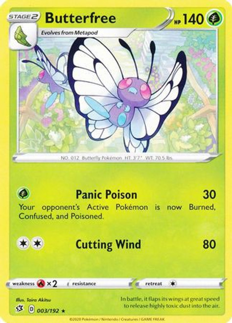 Pokemon Sword and Shield Rebel Clash Rare Butterfree #3
