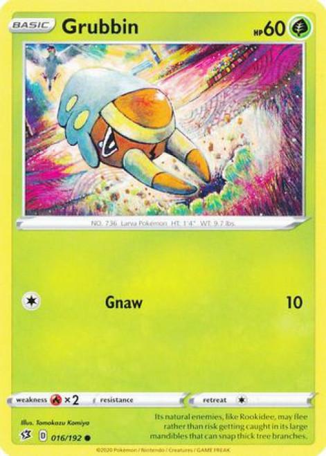 Pokemon Sword and Shield Rebel Clash Common Grubbin #16