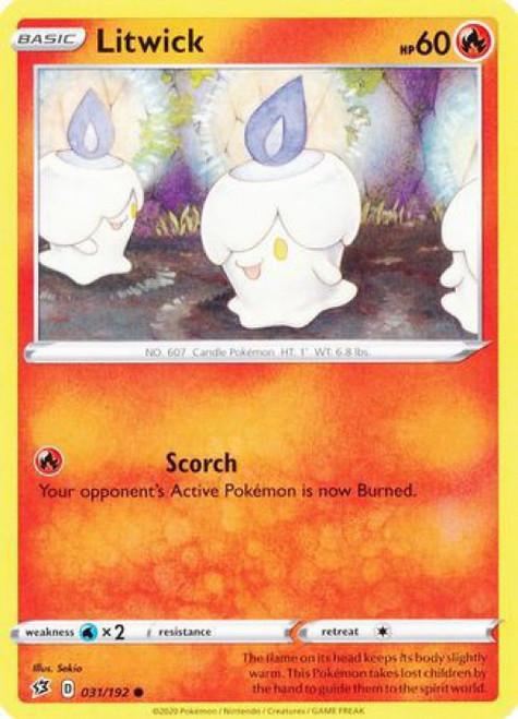 Pokemon Sword and Shield Rebel Clash Common Litwick #31