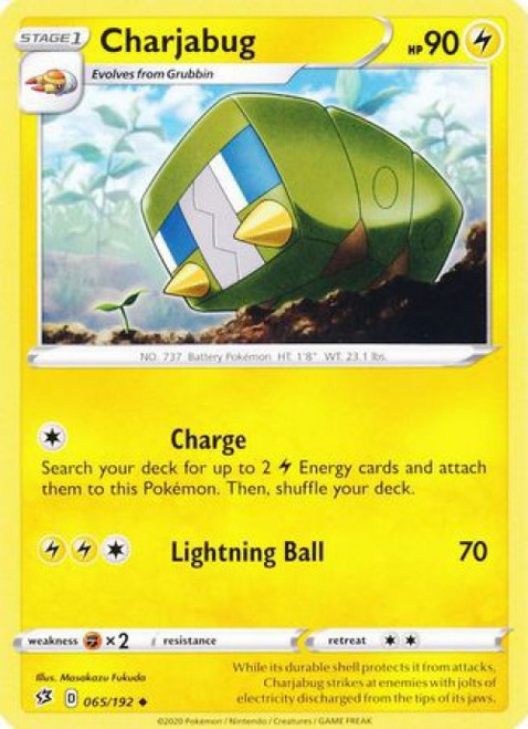 Pokemon Sword and Shield Rebel Clash Uncommon Charjabug #65