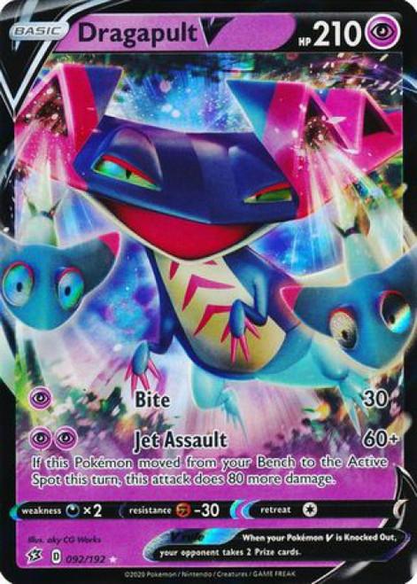 Pokemon Sword and Shield Rebel Clash Ultra Rare Dragapult V #92