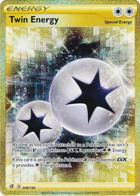 Pokemon Sword and Shield Rebel Clash Secret Rare Twin Energy #209