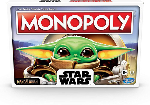The Mandalorian Star Wars Monopoly Board Game [The Child Edition]