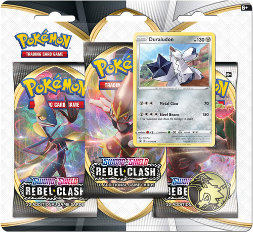 Pokemon Trading Card Game Sword & Shield Rebel Clash Duraludon Special Edition [3 Booster Packs, Promo Card & Coin!]