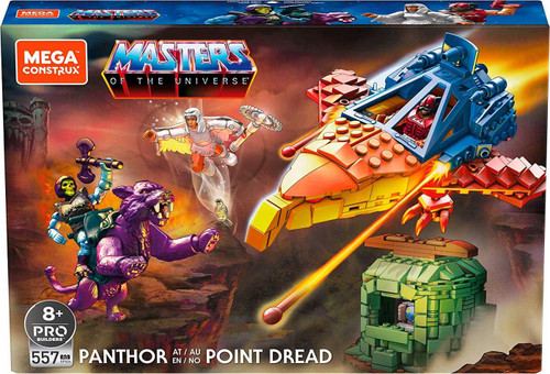 Mega Construx Masters of the Universe Panthor at Point Dread Set [with Battle Armor Skeletor, Zodac & Temple of Darkness Sorceress]