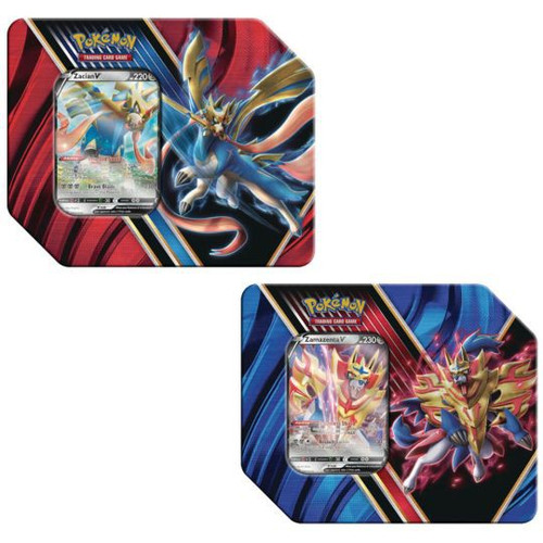 Pokemon Trading Card Game Legends of Galar Zacian V & Zamazenta V Set of Both Tins