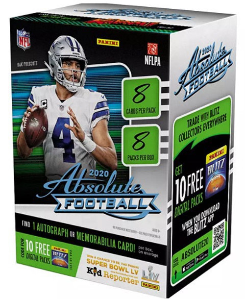 NFL Panini 2020 Absolute Football Trading Card BLASTER Box [8 Packs]