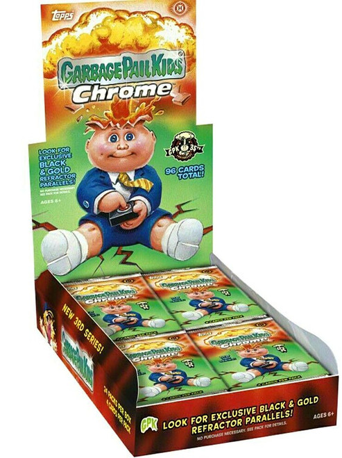 Garbage Pail Kids Topps 2020 Chrome New 3rd Series Trading Card HOBBY Box [24 Packs]
