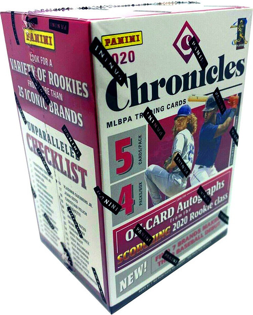 MLB Panini 2020 Chronicles Baseball Trading Card BLASTER Box [4 Packs]