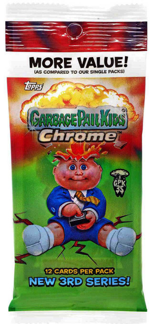 Garbage Pail Kids Topps 2020 Chrome New 3rd Series Trading Card VALUE Pack [12 Cards]