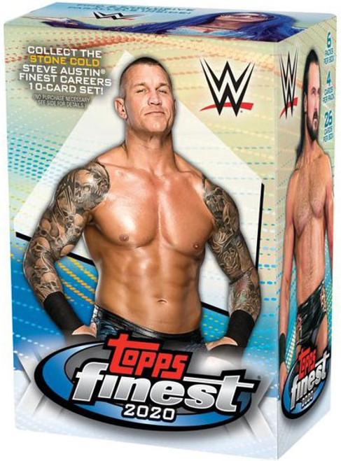 WWE Wrestling Topps 2020 Finest Trading Card BLASTER Box [6 Packs + 1 Bonus Pack!]