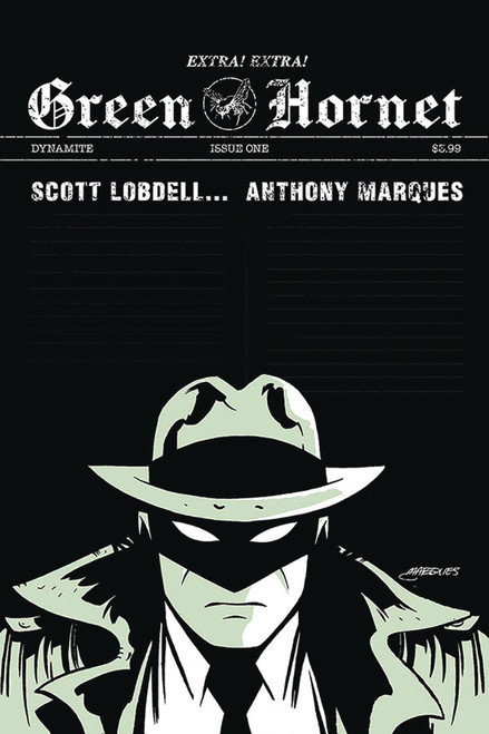 Dynamite Entertainment Green Hornet #1 Comic Book [Marques Variant Cover E]