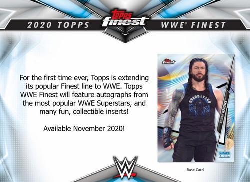 WWE Wrestling Topps 2020 Finest Trading Card VALUE Pack (Pre-Order ships November)