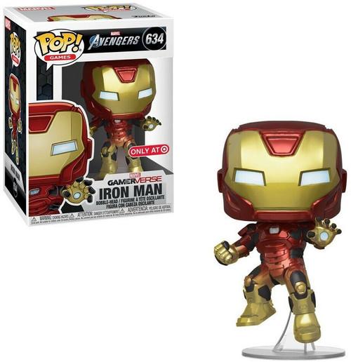 Funko Marvel Gamerverse Avengers POP! Games Iron Man Exclusive Vinyl Bobble Head #634