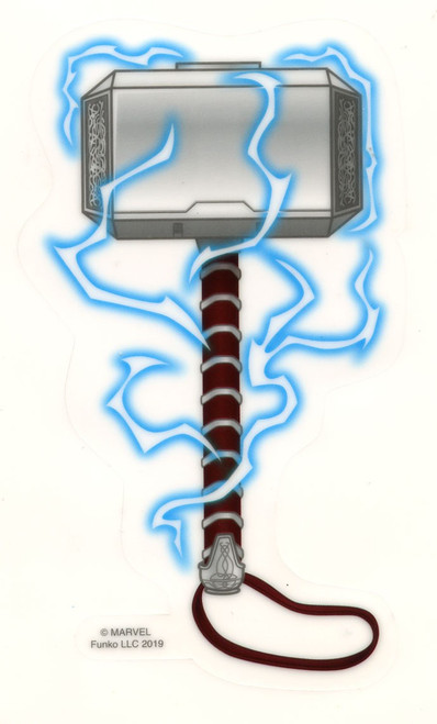 Funko Marvel Thor's Hammer Exclusive 3-Inch Sticker [Glow-in-the-Dark]